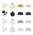 taxi call telephone and other web icon in vector image vector image