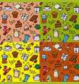tea seamless patterns vector image