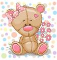 teddy bear girl vector image vector image