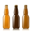 Templates realistic bottles vector image vector image