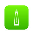 toothpaste in tube icon digital green vector image vector image
