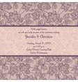 Vintage wedding invitation in romantic style vector image vector image