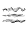 wave many black lines vector image vector image