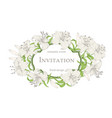 wedding card with lily flowers invitation card vector image vector image