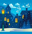 winter town theme image 3 vector image