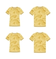 Yellow short sleeve t-shirts templates with the vector image vector image