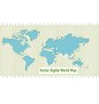 background digital world map vector image