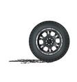auto wheel vector image