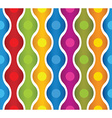 Simplistic colorful wavy lines and circles vector image