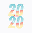 2020 new year label badge vector image vector image