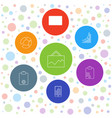 7 marketing icons vector image vector image