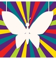 abstract design with paper butterfly vector image
