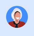 arab woman face avatar happy arabic girl wearing vector image vector image