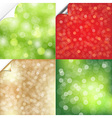 Bokeh Background With Corner Set vector image vector image