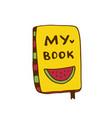 book icon hand drawn print sticker vector image vector image