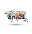 brics and 3d world map vector image vector image