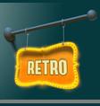 bright retro signboard vector image
