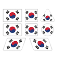 buttons with flag of South Korea vector image vector image