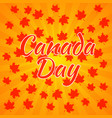 canada day orange background rays from the vector image vector image