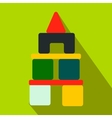 Children blocks flat icon vector image