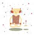 Children print Funny cat Yogi vector image