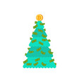 christmas tree financial bitcoin and dollars vector image vector image