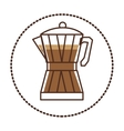circular sticker glass jar of coffee with handle vector image vector image