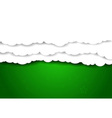 Clouds over green sky - background vector image vector image