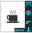 coffee cup icon flat vector image