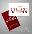 coffee logo card vector image vector image