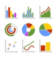 Color Business Graph and Chart Set vector image vector image