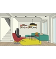 Color drawing of the interior vector image vector image