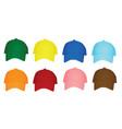 colorful set baseball caps vector image vector image