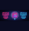 cotton candy neon sign cotton candy logo in neon vector image vector image