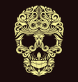 Dark Brown Ornament Skull vector image vector image