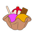 delicious ice cream vector image vector image