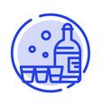 drink bottle glass ireland blue dotted line line vector image