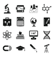 Education icons set simple style vector image vector image