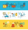 Energy Sources Line Banner Set vector image vector image