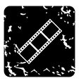 Film strip icon grunge style vector image