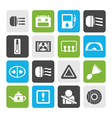 Flat Car Dashboard vector image vector image