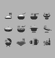 flat icon about food design vector image
