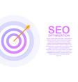 flat stock web analytics design seo optimization vector image