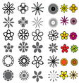 Flower Icons Set vector image