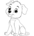 funny childs dog vector image vector image