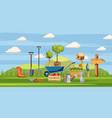 gardener tools icons set cartoon style vector image vector image