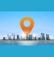 geolocation pin geo tag icon destination vector image