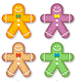 gingerbread men vector image