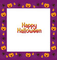 halloween border decorate with pumpkin and spider vector image