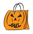 halloween sale bag 2 vector image